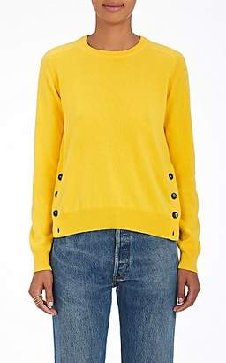 Barneys New York Women's Button-Vent Cashmere Sweater - Yellow