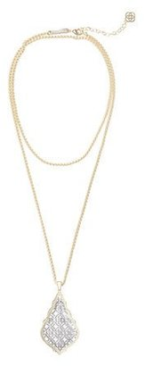 Kendra Scott Aiden Mixed Metal Pendant Necklace $85 thestylecure.com