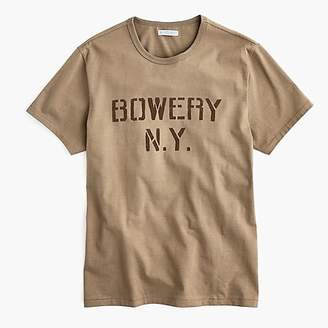 J.Crew Wallace & Barnes Bowery stencil graphic tubular T-shirt