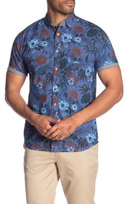 Descendant Of Thieves Mid Summer Night Modern Fit Short Sleeve Shirt