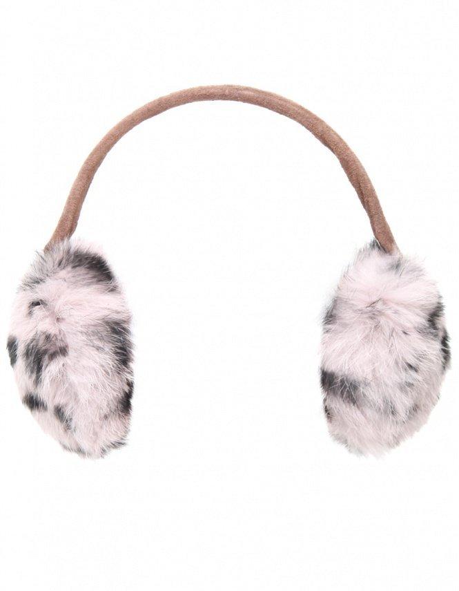 Women's Yves Salomon Coyote Fur Ear Muffs
