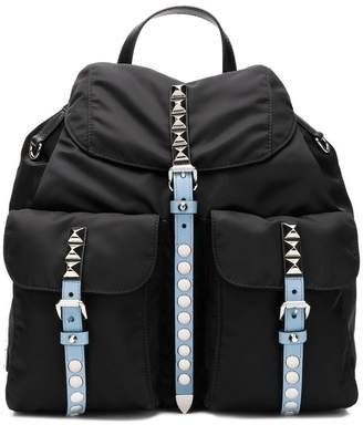 Prada studded detail backpack