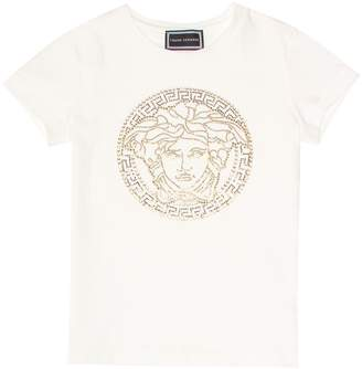 Versace Kids Embellished stretch-cotton T-shirt