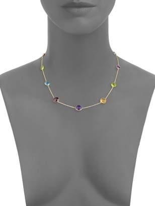 Effy 14K Gold Multi-Stone Station Necklace