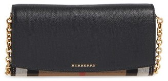 Women's Burberry Henley Wallet On A Chain - Black $695 thestylecure.com