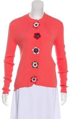 Fendi Embellished Rib Knit Top