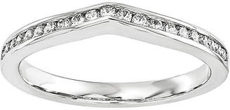MODERN BRIDE 1/7 CT. T.W. Diamond 14K White Gold Wedding Band