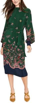 Boden Bonnie Print Silk Midi Dress