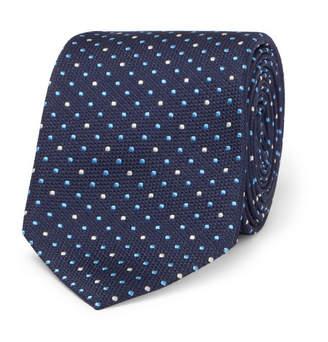 Paul Smith 6cm Embroidered Polka-dot Silk Tie