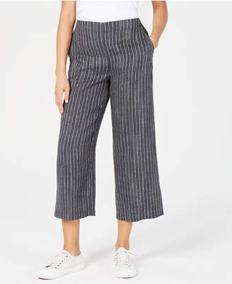 Eileen Fisher Linen Wide-Leg Cropped Pants, Regular & Petite