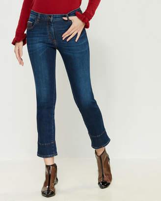 Mariella Rosati Contrast Stitching Jeans