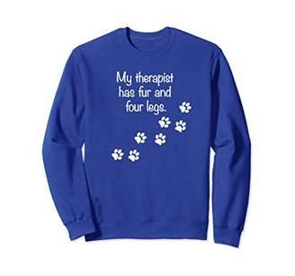 My Therapist Has Fur Four Legs Funny Dog Lovers Sweatshirt