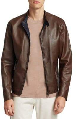 Saks Fifth Avenue COLLECTION Banded Leather Jacket