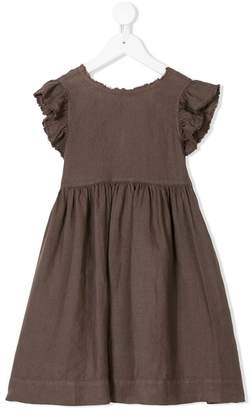 Il Gufo back bow distressed dress