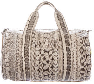 Rebecca Minkoff Embossed Leather Duffel Bag $125 thestylecure.com
