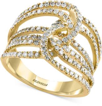 Effy Diamond Multi-Layer Interwoven Statement Ring (1 ct. tw.) in 14k Gold