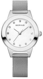 Swarovski BERING Classic Analog Silvertone Bracelet Crystal Watch