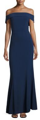 Laundry by Shelli Segal Off-The-Shoulder Crepe Gown $345 thestylecure.com