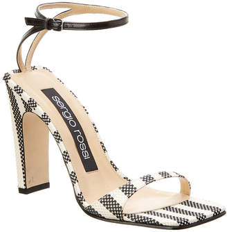 Sergio Rossi Sr1 Leather-Trim Sandal