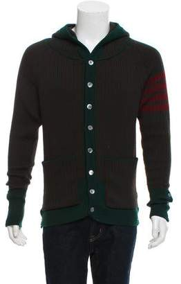 Thom Browne Knit Hooded Cardigan