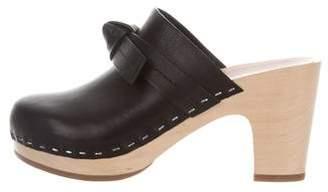Loeffler Randall Leather Platform Clogs
