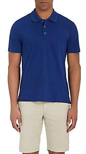 Piattelli MEN'S COTTON PIQUÉ POLO SHIRT - NAVY SIZE XL