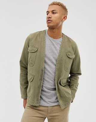 Asos Design DESIGN utility jacket in khaki