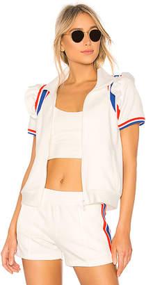 Pam & Gela Short Sleeve Ruffle Track Jacket