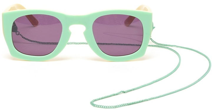 House of Holland 'Librarian' Wayfarer-Style Acetate Sunglasses