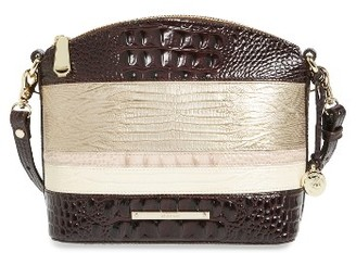 Brahmin Mini Duxbury Leather Crossbody Bag - Beige $225 thestylecure.com