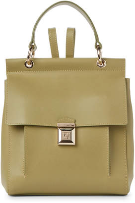 Patrizia Pepe Daily Green Leather Backpack
