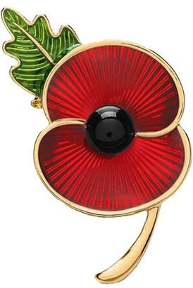 Love Dream Poppy Brooches Remembrance Sunday Red Flower Rhinestone Badges Banquet Enamel Poppy Lapel Pin