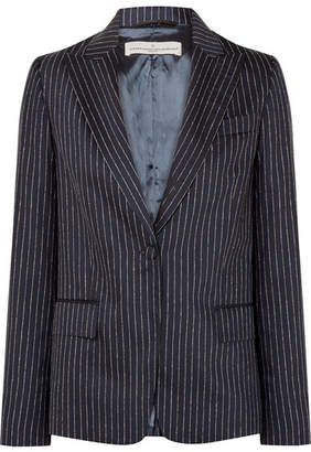 Golden Goose Venice Pinstriped Wool And Silk-blend Blazer - Navy
