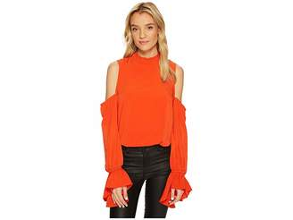 Bishop + Young Cold Shoulder Sleeve Detail Top Women's Clothing