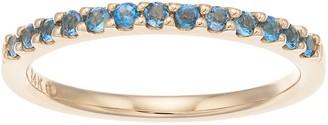 Boston Bay Diamonds 14k Gold Blue Topaz Stack Ring
