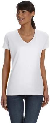 Fruit of the Loom Ladies' Heavy Cotton HD V-Neck T-Shirt, XL