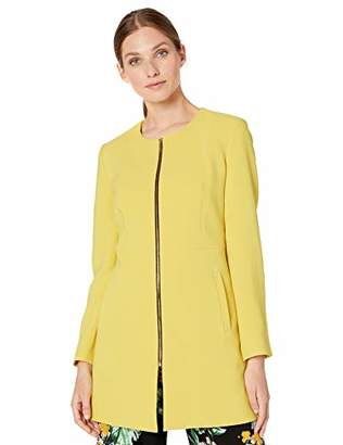 Nine West Women's Crepe Zip Front Topper