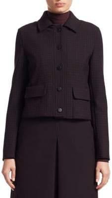 Akris Punto Glen Check Doubleface Jersey Jacket