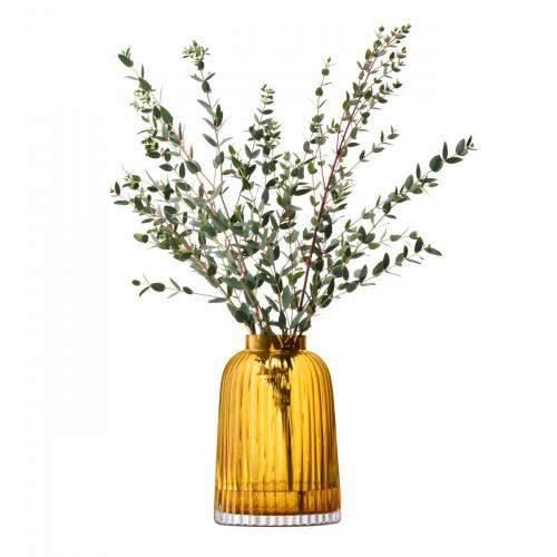 Vase Pleat 20cm, bernstein