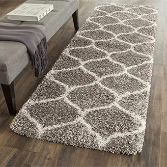 Safavieh Hudson Shag Collection SGH280B Moroccan Ogee Plush Runner