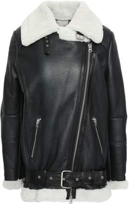 Muu Baa Muubaa Shearling-trimmed Leather Biker Jacket
