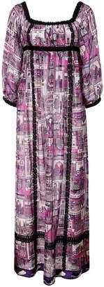 Anna Sui London Underground voile dress