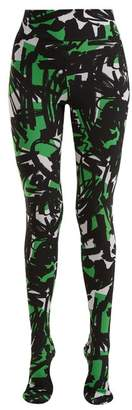 Burberry Graffiti Print Leggings - Womens - Green Multi