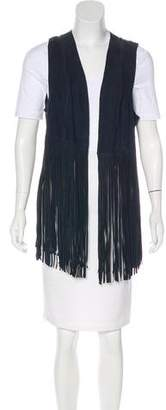 LaMarque Collection Suede Fringe-Trimmed Vest