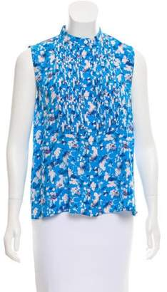 Tanya Taylor Sleeveless Floral Print Top