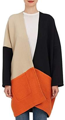 Zero Maria Cornejo WOMEN'S MANON COLORBLOCKED COTTON COAT - BLACK SIZE S