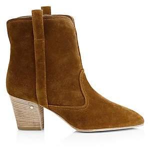 Laurence Dacade Women's Sheryll Western Velvet Ankle Boots