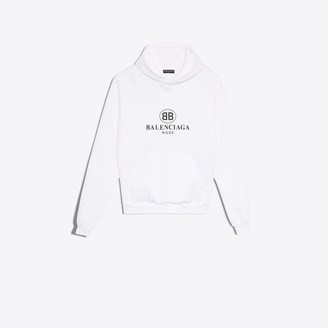 Balenciaga BB Mode printed hooded sweater
