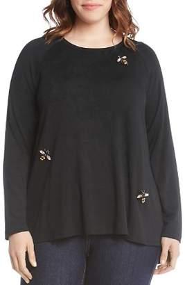 Karen Kane Plus Embellished Bee Top