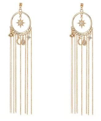 Ettika Chain & Charm Statement Earrings